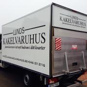 Badrumsinredning i Lund, hemkörningslastbil